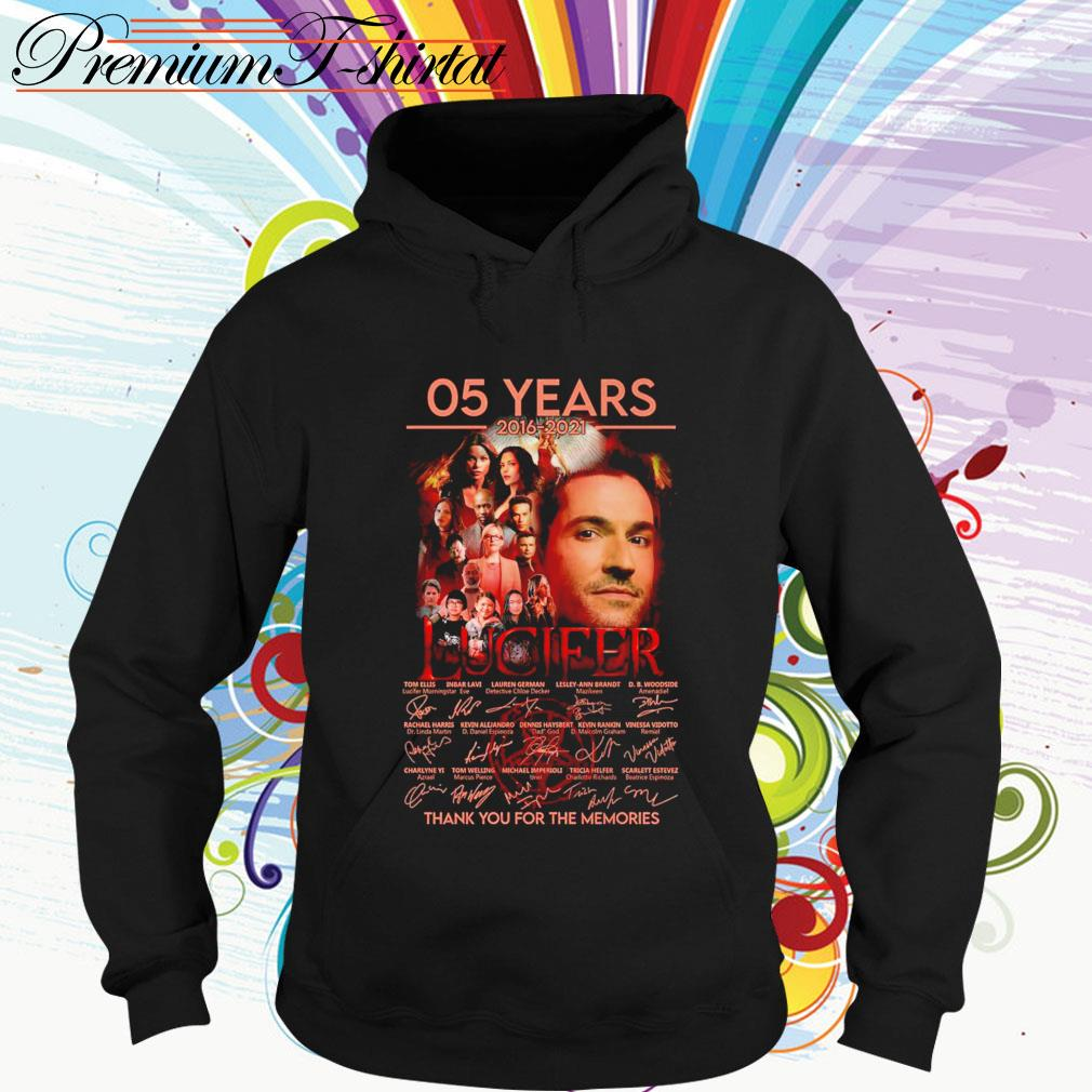 05 Years 2016-2021 Lucifer thank you for the memories signatures Hoodie