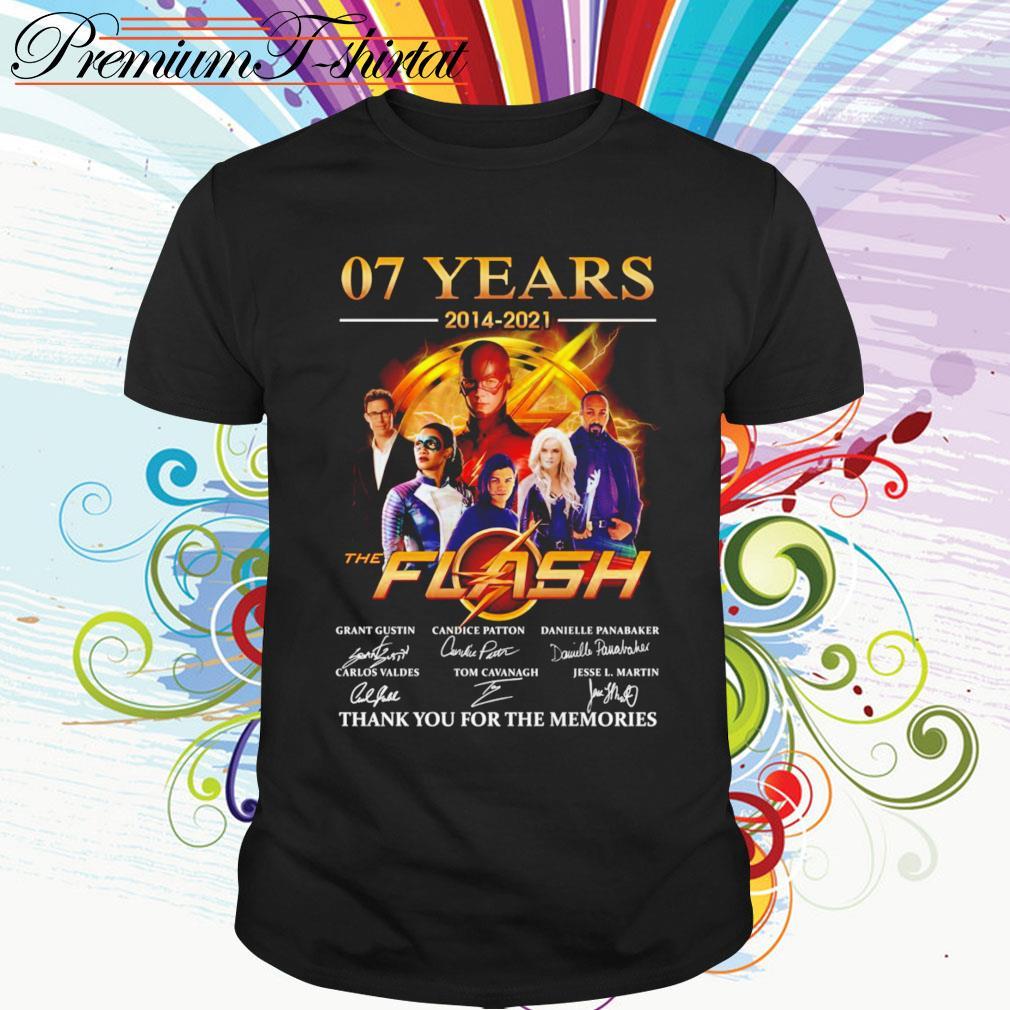 07 Years 2014-2021 The Flash signatures shirt