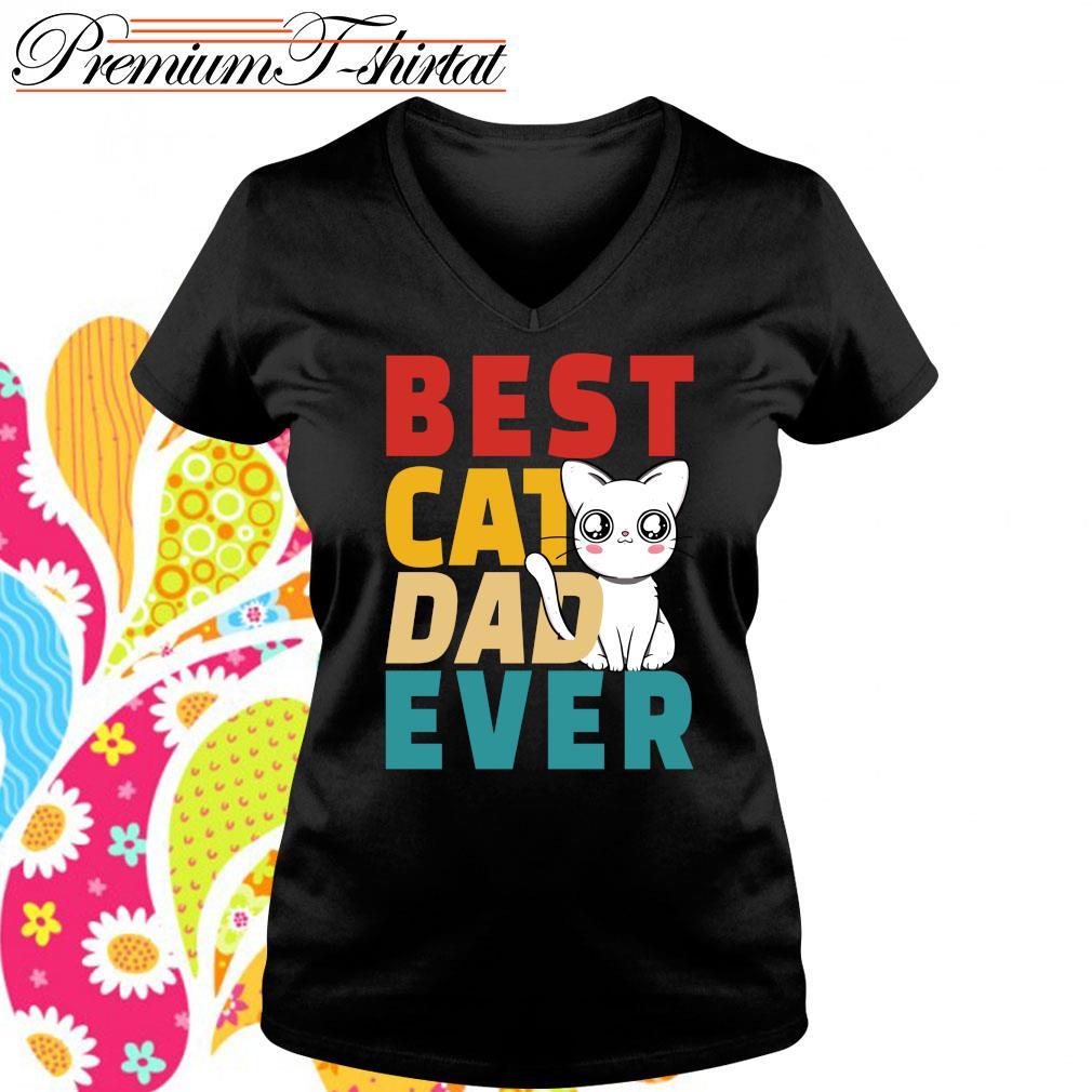 Best cat dad ever s v-neck-t-shirt