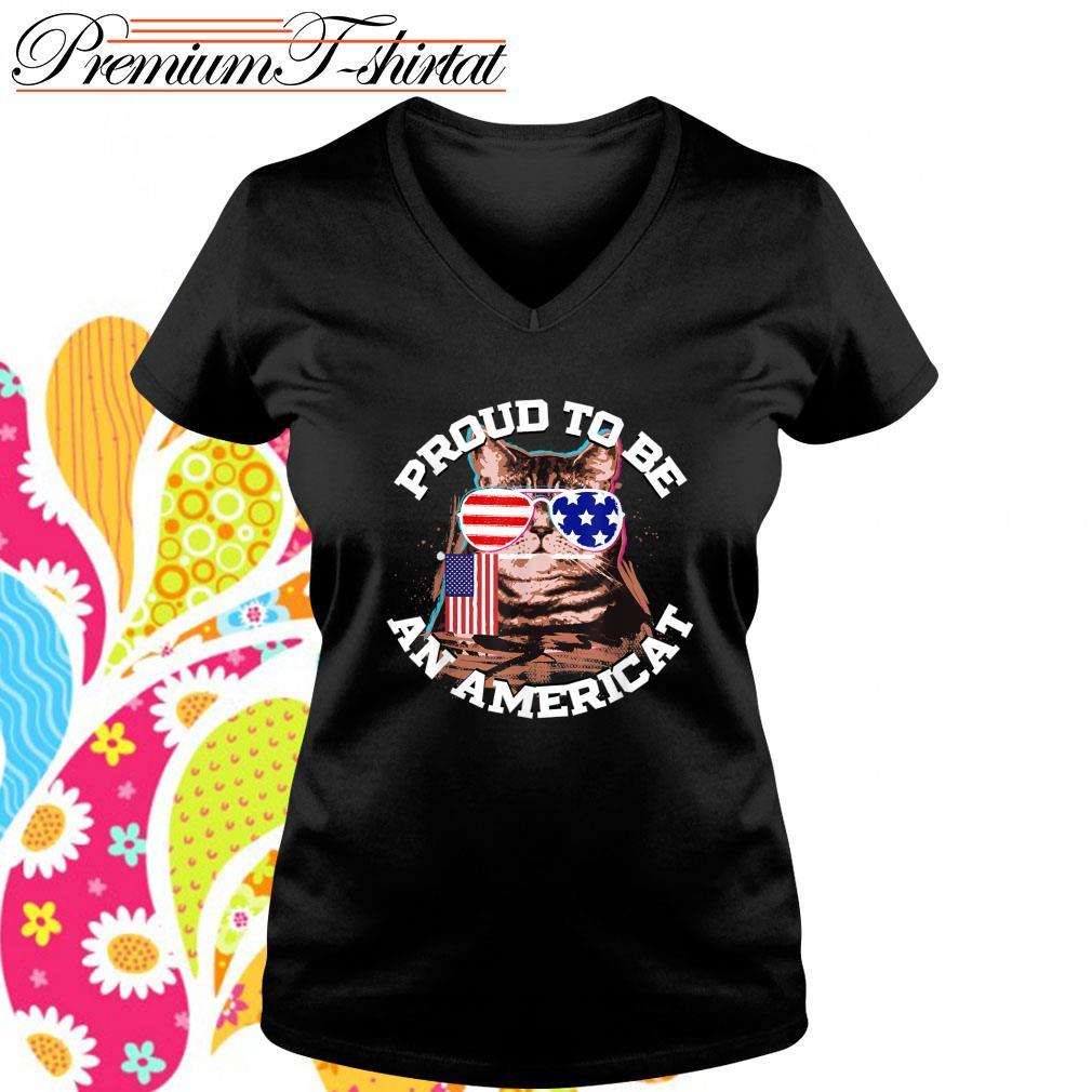 Cat proud to be an Americat s v-neck-t-shirt