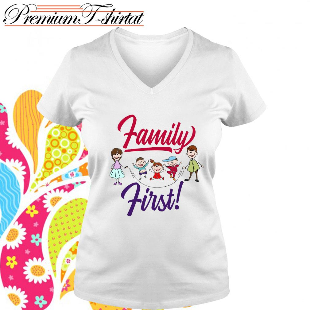 Official Family first s v-neck t-shirt