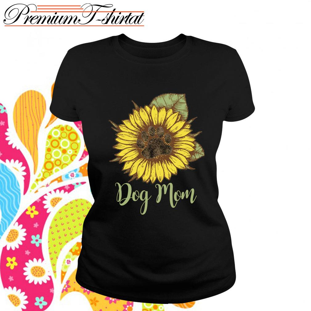 Sunflower dog mom s ladies-tee